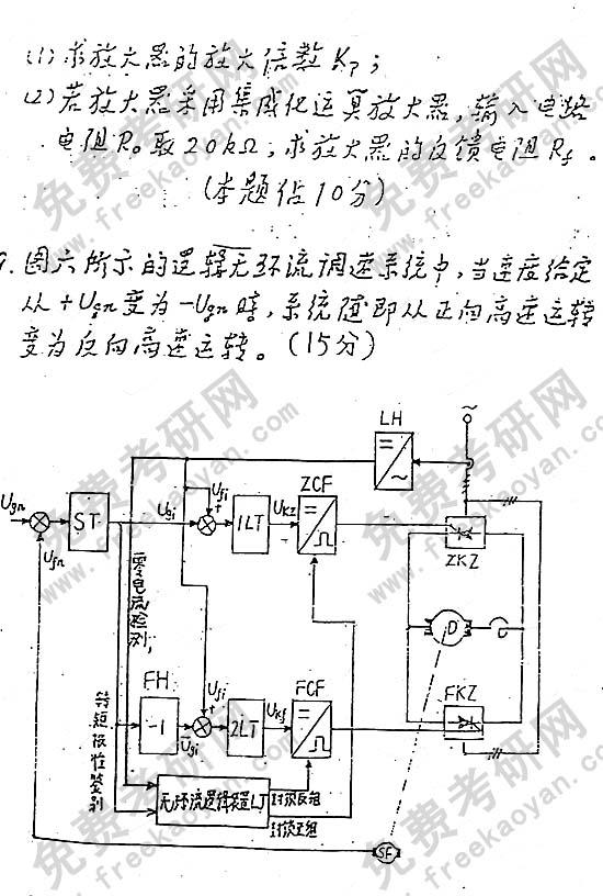 华南理工大学1996年考研专业课试卷自动控制原理