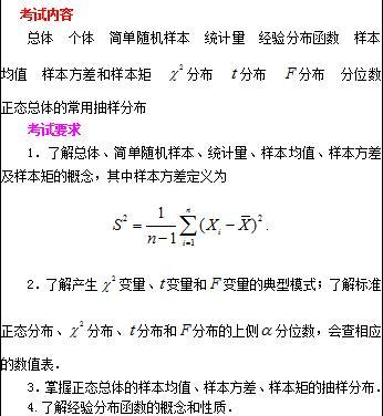 2018年与2017年考研数学三大纲变化对比