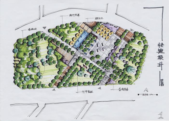 北京林业大学风景园林硕士考研真题系列-研究生快题
